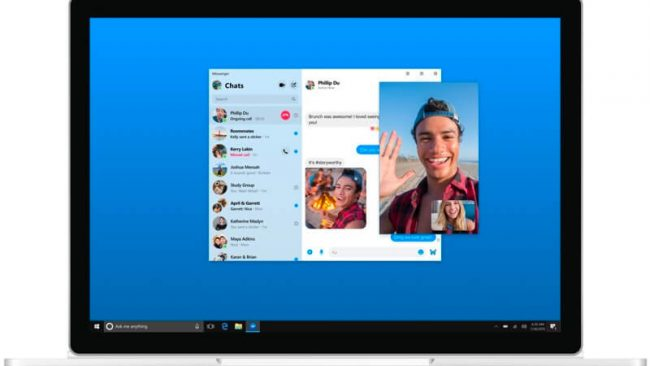 aplicação desktop facebook messenger