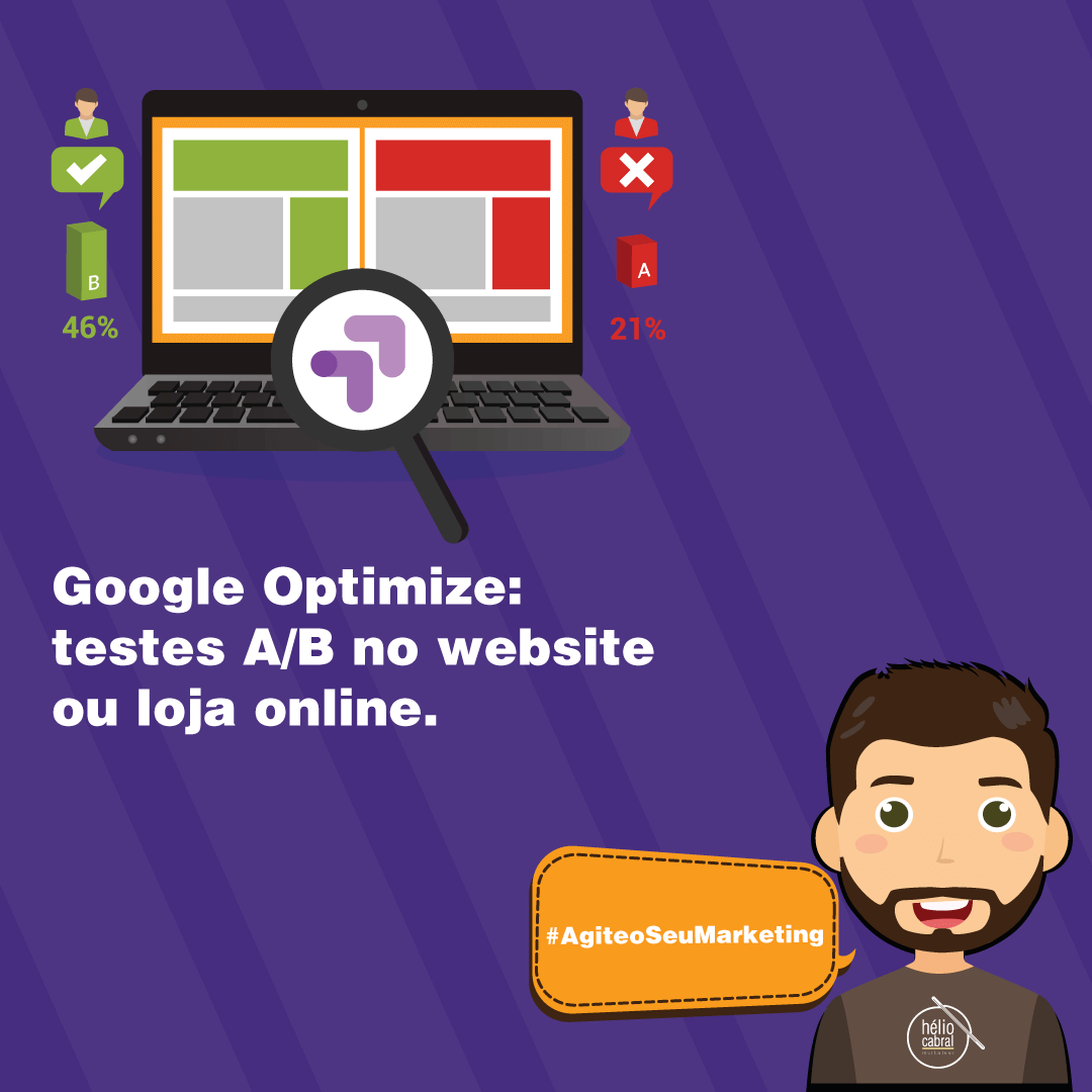 helio-cabral-marketeer-Google Optimize como realizar testes AB no website ou loja online