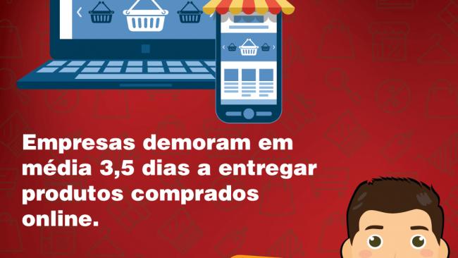 Empresas demoram em média 3,5 dias a entregar produtos comprados online