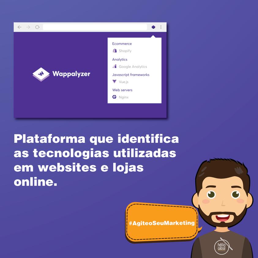 helio cabral makteer plataforma que identifica as tecnologias utilizadas em website e lojas online