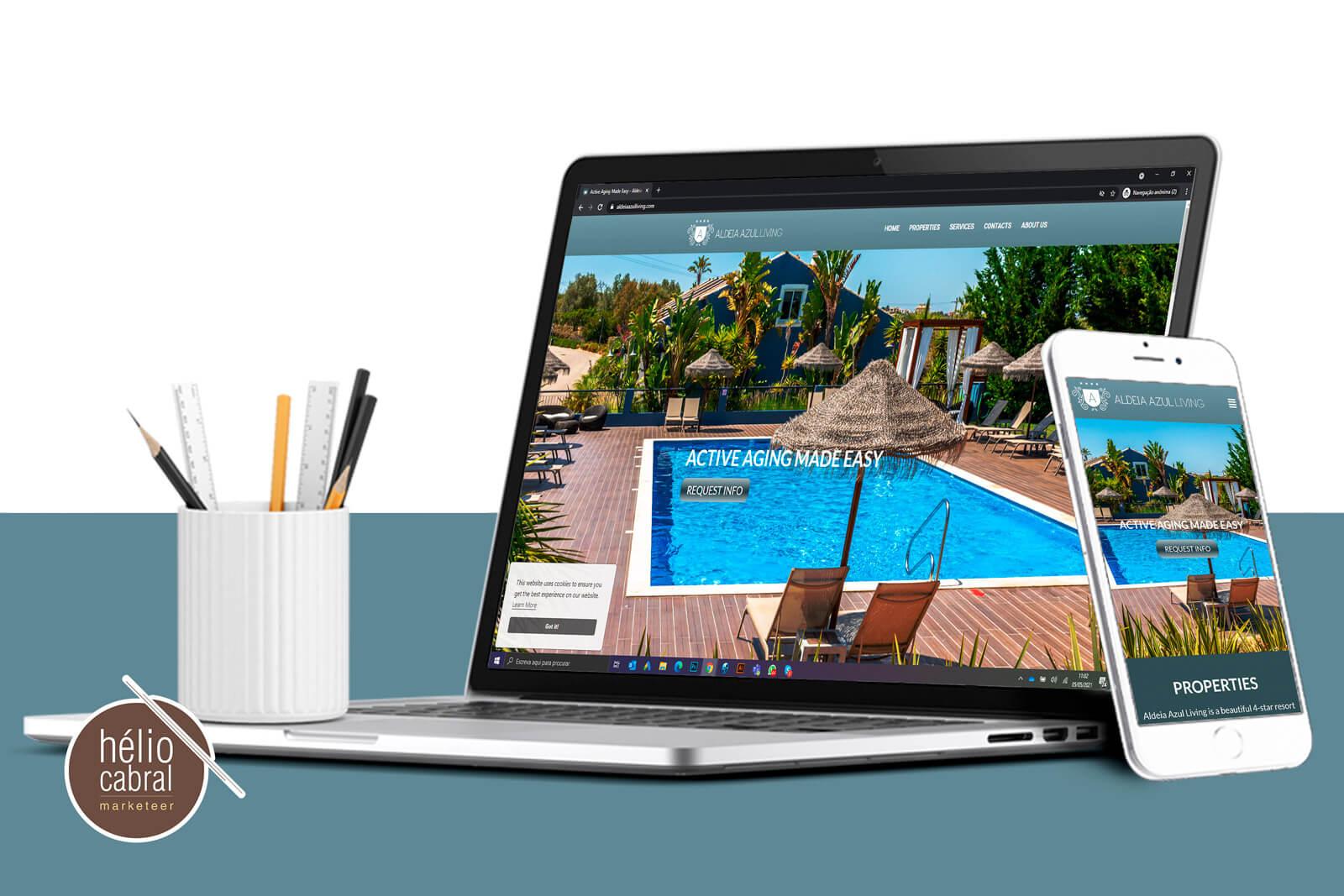 Criação de Landing Page Aldeia Azul Living